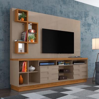 Estante Home Theater Para TV Até 65 Pol. Heitor Fendi/Naturale - Madetec