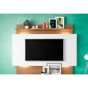 Estante Home Theather para TV com Led TB112L Off White/Freijó - Dalla Costa