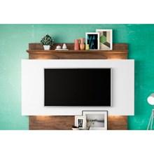 Estante Home Theather para TV com Led TB112L Off White/Nobre - Dalla Costa