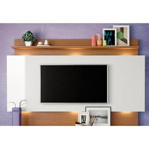 Estante Home Theather para TV com Led TB113L Off White/Freijó - Dalla Costa