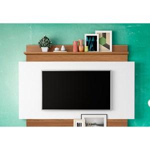 Estante Home Theather para TV TB112 Off White/Freijó - Dalla Costa