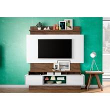 Estante Home Theather para TV TB112 Off White/Nobre - Dalla Costa
