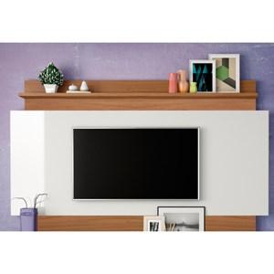 Estante Home Theather para TV TB113 Off White/Freijó - Dalla Costa