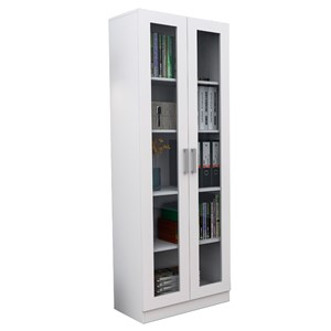 Estante Livreiro 2 Portas com Vidro Office Plus ARM 3003 Branco - Appunto