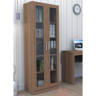 Estante Livreiro 2 Portas com Vidro Office Plus ARM 3003 Castanho - Appunto
