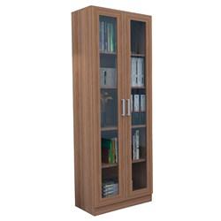 Estante Livreiro 2 Portas com Vidro Office Plus ARM 3003 Castanho - Ap
