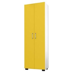 Estante Livreiro 2 Portas Office Branco/Amarelo – Móveis Leão
