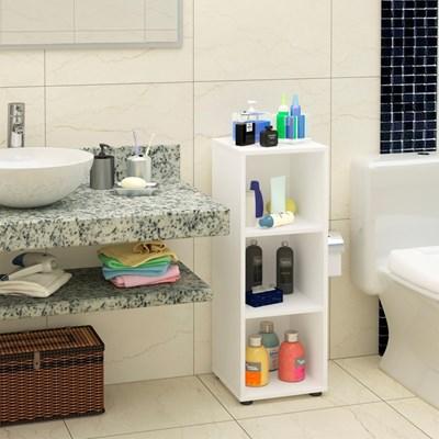 Estante Livreiro Clean com 2 Prateleiras Branco - Artany