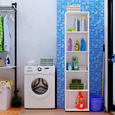 Estante Livreiro Clean com 4 Prateleiras Branco - Artany