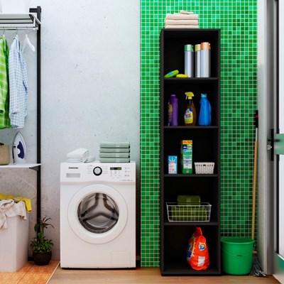 Estante Livreiro Clean com 4 Prateleiras Preto - Artany