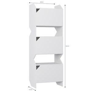Estante Multiuso Tripla Soul 1005 com Portas Branco - BE Mobiliário