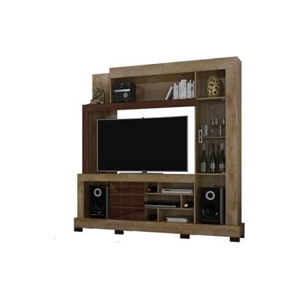 Estante para TV Cristal Dorale/Conhaque - Dj Móveis