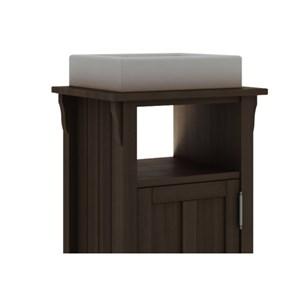 Gabinete Para Banheiro 1 Porta Mission Nogueira - Mão & Formão