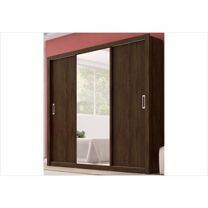 Guarda Roupa 03 Portas de Correr com Espelho Residence Ébano Touch - Demóbile