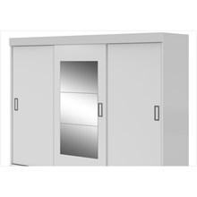 Guarda Roupa 3 Portas de Correr e Espelho Hércules Branco - Móveis LP