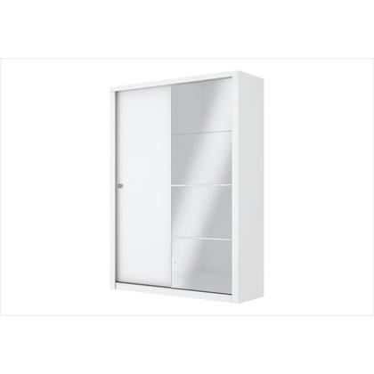 Guarda Roupa Alegro com Espelho e 02 Portas de Correr Branco - Henn
