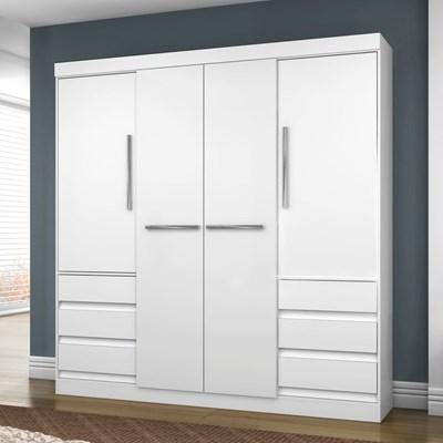 Guarda Roupa Casal 4 Portas 1477 Branco - Araplac