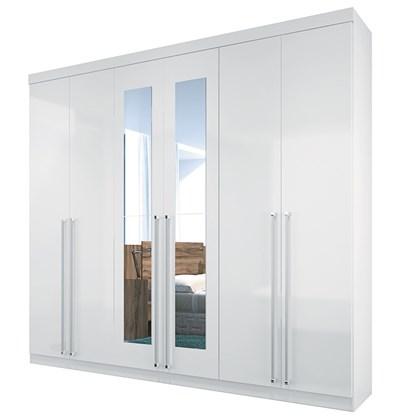 Guarda Roupa Casal Imaginare 6 Portas e Espelho Branco - Santos Andirá