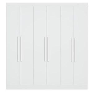 Guarda Roupa Casal Luna 6 Portas Branco - Qmovi