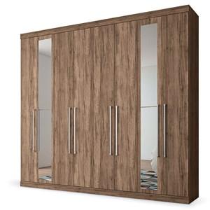 Guarda Roupa Casal Master 8.4 8 Portas e Espelho Atacama - Santos Andirá