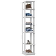 Guarda Roupa Closet Clothes 1001 6 Prateleiras Branco - BE Mobiliário