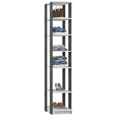Guarda Roupa Closet Clothes 1001 6 Prateleiras Branco/Espresso - BE Mobiliário