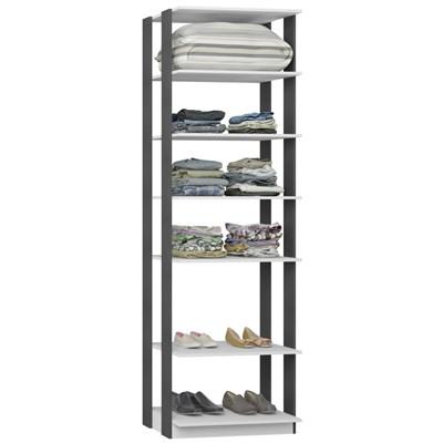Guarda Roupa Closet Clothes 1002 6 Prateleiras Branco/Espresso - BE Mobiliário