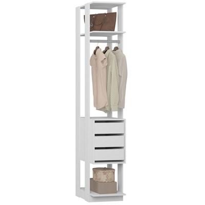 Guarda Roupa Closet Clothes 1003 3 Gavetas Branco - BE Mobiliário