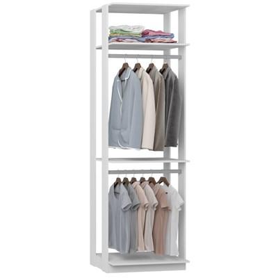 Guarda Roupa Closet Clothes 1005 3 Prateleiras Branco - BE Mobiliário