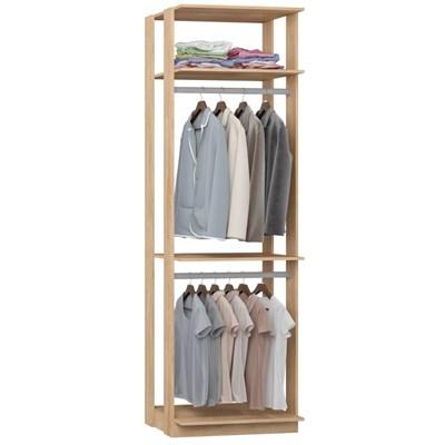 Guarda Roupa Closet Clothes 1005 3 Prateleiras Carvalho Mel - BE Mobiliário