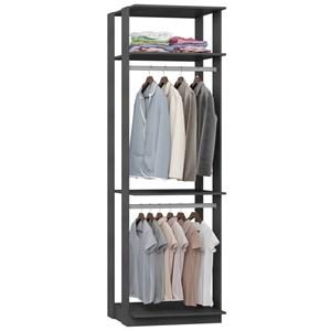 Guarda Roupa Closet Clothes 1005 3 Prateleiras Espresso - BE Mobiliário