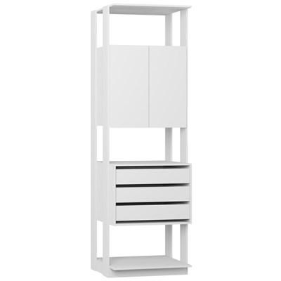 Guarda Roupa Closet Clothes 1006 2 Portas Branco - BE Mobiliário