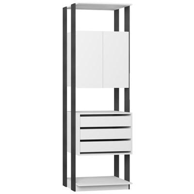 Guarda Roupa Closet Clothes 1006 2 Portas Branco/Espresso - BE Mobiliário