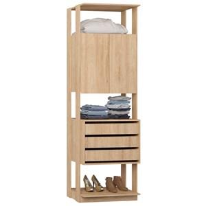 Guarda Roupa Closet Clothes 1006 2 Portas Carvalho Mel - BE Mobiliário