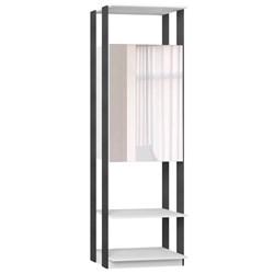 Guarda Roupa Closet Clothes 1007 2 Portas com Espelho Branco/Espresso