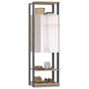 Guarda Roupa Closet Clothes 1007 2 Portas com Espelho Carvalho/Espresso - BE Mobiliário