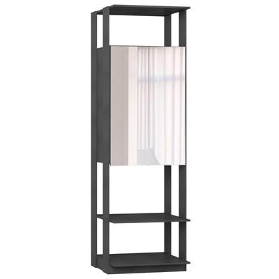 Guarda Roupa Closet Clothes 1007 2 Portas com Espelho Espresso - BE Mobiliário