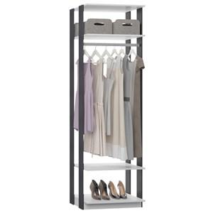 Guarda Roupa Closet Clothes 1008 3 Prateleiras Branco/Espresso - BE Mobiliário