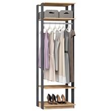 Guarda Roupa Closet Clothes 1008 3 Prateleiras Carvalho/Espresso - BE Mobiliário