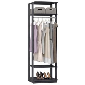 Guarda Roupa Closet Clothes 1008 3 Prateleiras Espresso - BE Mobiliário