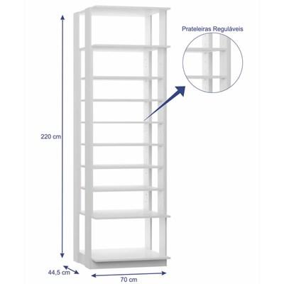 Guarda Roupa Closet Clothes 1009 9 Prateleiras Branco - BE Mobiliário