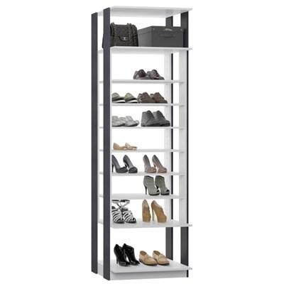 Guarda Roupa Closet Clothes 1009 9 Prateleiras Branco/Espresso - BE Mobiliário