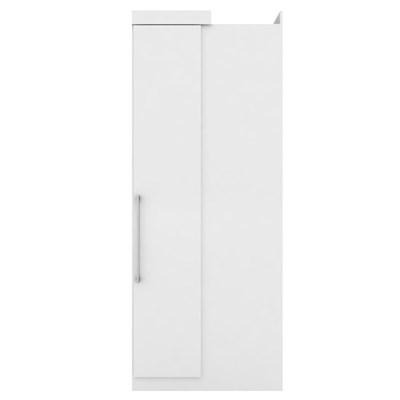 Guarda Roupa de Canto 1 Porta Módena Branco - Demóbile
