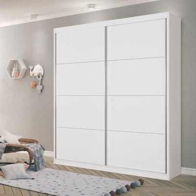 Guarda Roupa Infantil Premium Plus 2 Portas Branco - Planet Baby