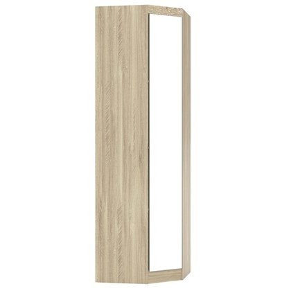 Guarda Roupa Modulado Canto Oblíquo com Espelho 195 Master Avelã Rústico - Eucamóveis