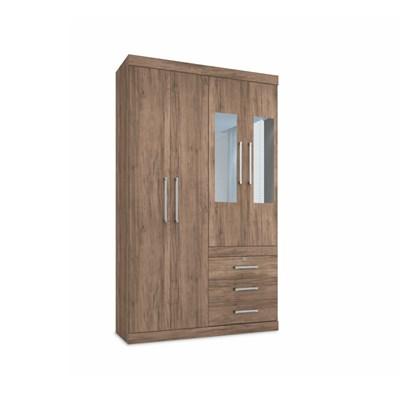 Guarda Roupa Solteiro Havana Plus 4 Portas e Espelho Atacama - Santos Andirá