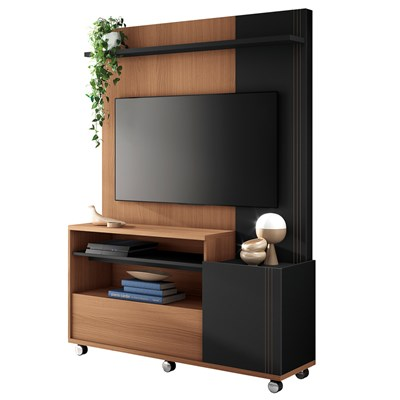 Home Theater Para TV Até 50 Pol. Timber H01 Nature/Preto - Mpozenato