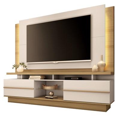 Home Theater Para TV Até 70 Pol. Pallazo H01 Freijó/Off White - Mpozenato