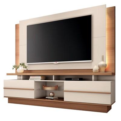 Home Theater Para TV Até 70 Pol. Pallazo H01 Nature/Off White - Mpozenato