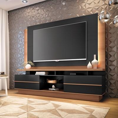 Home Theater Para TV Até 70 Pol. Pallazo H01 Nature/Preto - Mpozenato